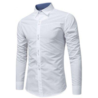 Buy WHITE Turndown Collar Geometric Print Shirt for $20.23 in GearBest store