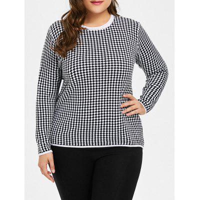 Buy BLACK 4XL Plus Size Checked Knitwear for $29.84 in GearBest store