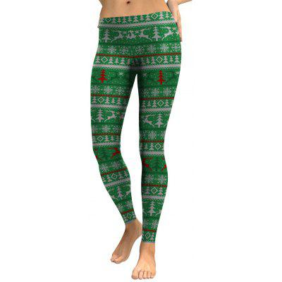Tree Elk Snowflake Leggings