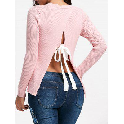 Back Slit Ribbed Sweater