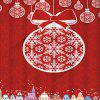 Christmas Ball Building Waterproof Shower Curtain - RED