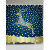 Christmas Reindeer Waterproof Shower Curtain - BLUE