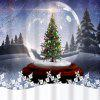 Crystal Ball Waterproof Fabric Christmas Shower Curtain - COLORMIX