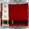 Christmas Clothes Patterned Waterproof Wall Tapestry - DEEP RED