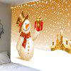 Christmas Snowman With Gift Patterned Wall Art Tapestry - COLORFUL