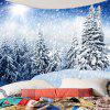 Hanging Whirling Snow Forest Patterned Wall Art Tapestry - WHITE