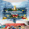 Merry Christmas Party Bells Sign Patterned Tapestry - COLORFUL
