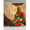 Waterproof Christmas Tree Shower Curtain - GOLDEN