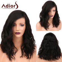 Adiors Medium Side Parting Fluffy Natural Wavy Synthetic Wig