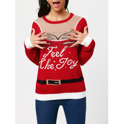 Pullover Pullover mit Feel The Joy Pattern