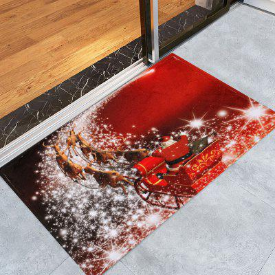 Christmas Sled Print Antislip Bath Rug