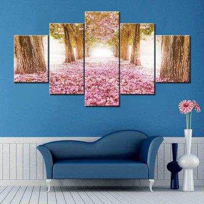 Flower Field Print Split Canvas Wall Art Paintings