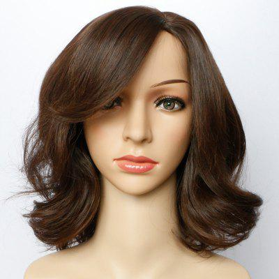 Short Side Parting Fluffy Wavy Synthetic Wig