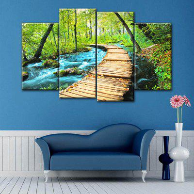 Forest Path Print Wall Art Split Canvas Paintings