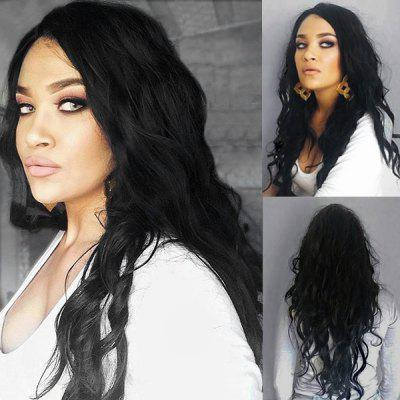 Long Side Parting Shaggy Natural Wave Synthetic Wig