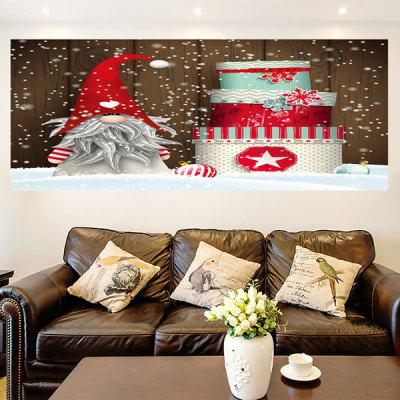 Buy COLORFUL Santa Claus Christmas Cake Patterned Wall Art Sticker for $11.43 in GearBest store