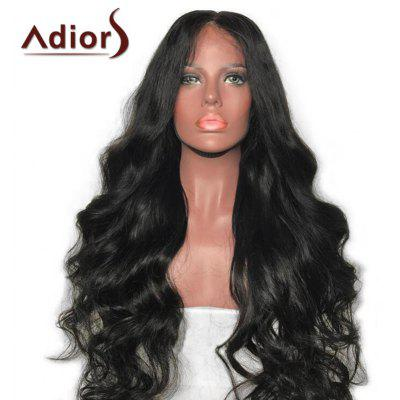 Adiors Long Middle Part Fluffy Body Wave Synthetic Wig
