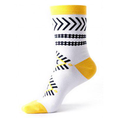Ankle Socks with Halloween Geometric Pattern