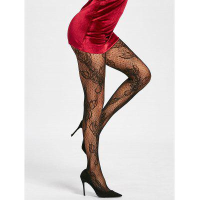 Flower Fishnet See Thru Tights