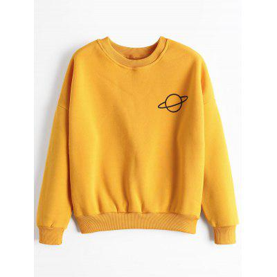 Drop Shoulder Planet Sweatshirt