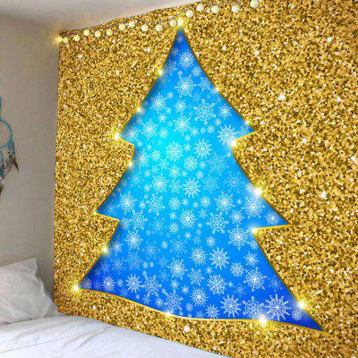 Glitter Christmas Tree Shape Hanging Wall Art Tapestry