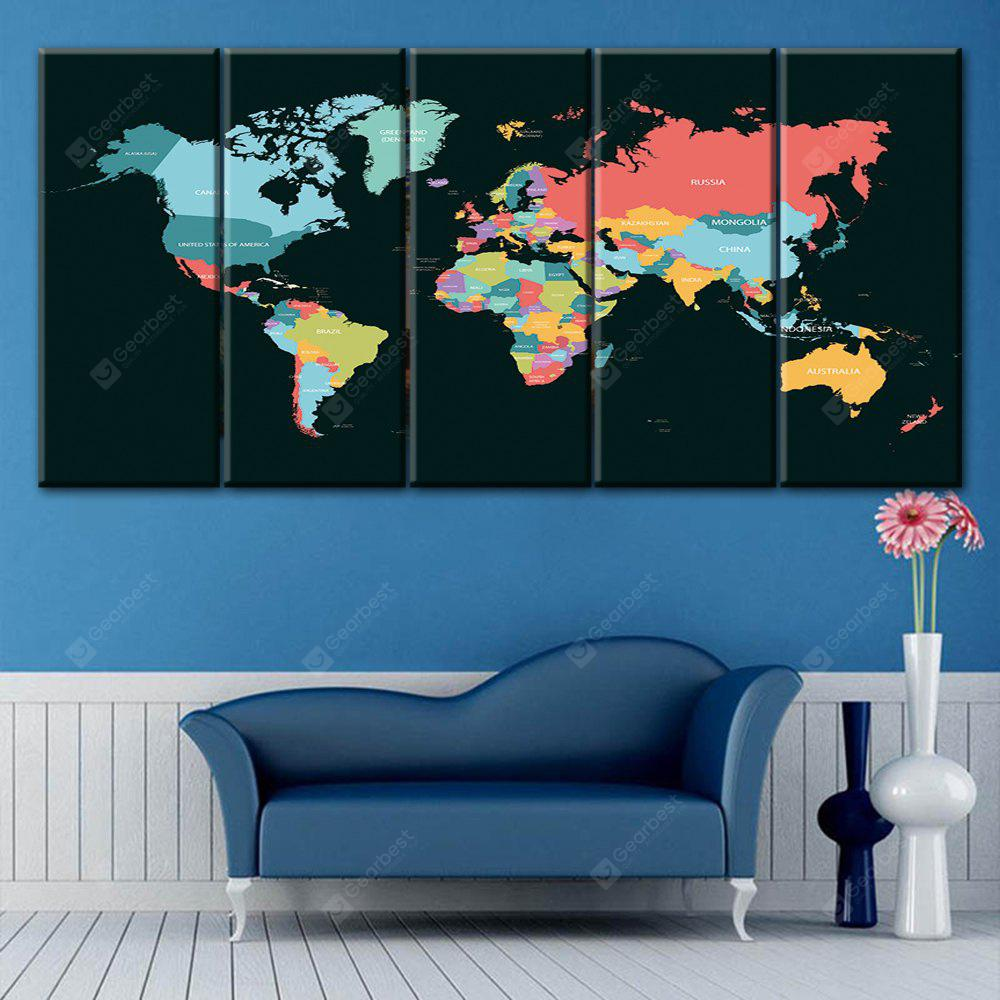 World Map Print Wall Art Split Canvas Paintings