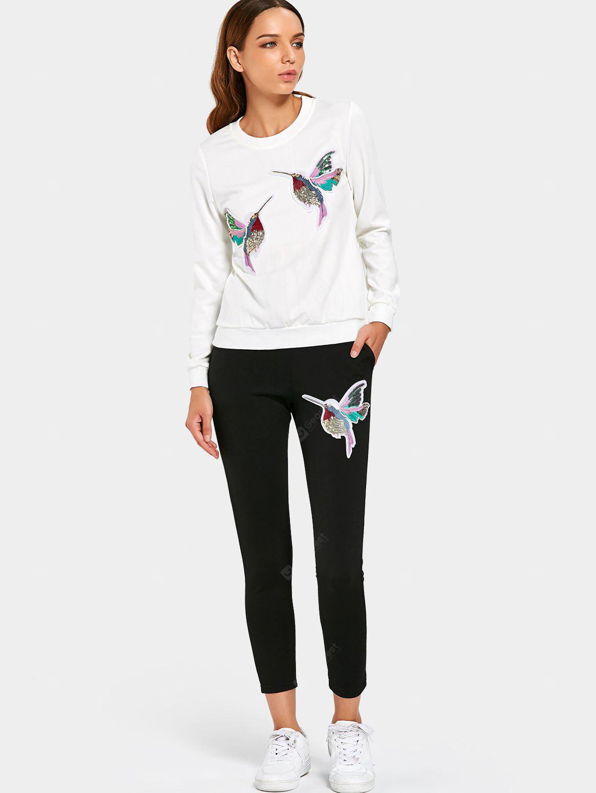 Sequined Bird Sports Two Piece Suit