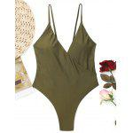 Crossover High Cut Swimwear - ARMY GREEN