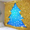 Glitter Christmas Tree Shape Hanging Wall Art Tapestry - DOURADO
