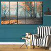 Wall Art Fog Forest Print Split Canvas Paintings - COLORMIX