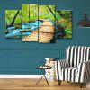 Forest Path Print Wall Art Split Canvas Paintings - GREEN