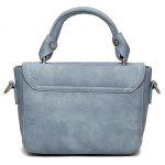 Stitching Metal Tote Bag - LAGO AZUL