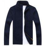 Stehkragen Strickjacke - CADETBLUE
