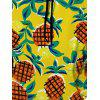 Drawstring Allover Fruit Print Pineapple Hoodie - COLORES MEZCLADOS