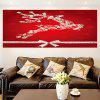 Removable Christmas Elk Patterned Waterproof Wall Art Painting - BRIGHT RED