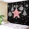 Waterproof Christmas Stars Gift Pattern Wall Hanging Tapestry - COLORMIX