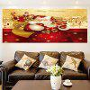 Gifts Santa Claus Patterned Multifunction Wall Art Painting - COLORFUL