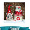 Santa Claus Christmas Cake Patterned Wall Art Painting - COLORFUL