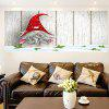Multifunction Little Santa Clause Removable Wall Art Painting - COLORFUL