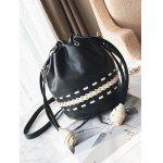Braid cordón Crossbody bolsa - NEGRO