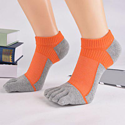 Color Block Five Toe Ankle Socks