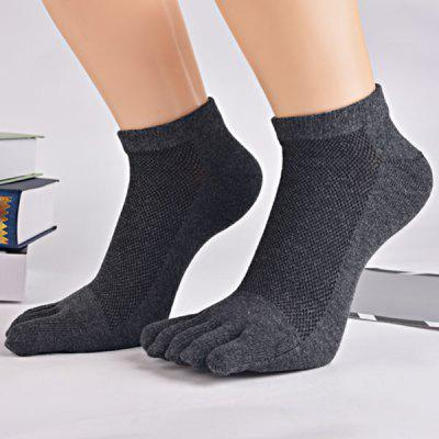 Five Finger Toe Cotton Blend Ankle Socks