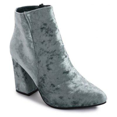 Pointed Toe Chunky Ankle Boots