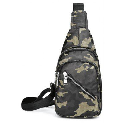 Camouflage Pattern Front Crossbody Bag