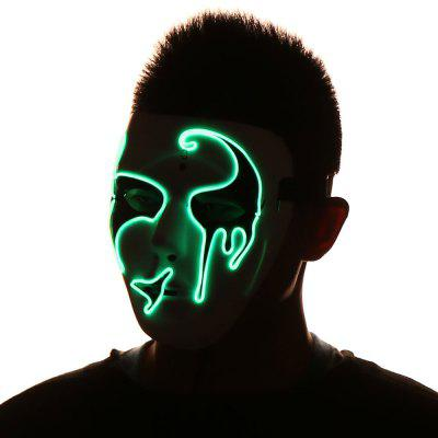 EL Wire Luminous Flashing Halloween MaskHalloween Supplies<br>EL Wire Luminous Flashing Halloween Mask<br><br>Event &amp; Party Item Type: Party Decoration<br>Material: Plastic<br>Occasion: Halloween<br>Package Contents: 1 x Mask 1 x Controller<br>Shape/Pattern: Character