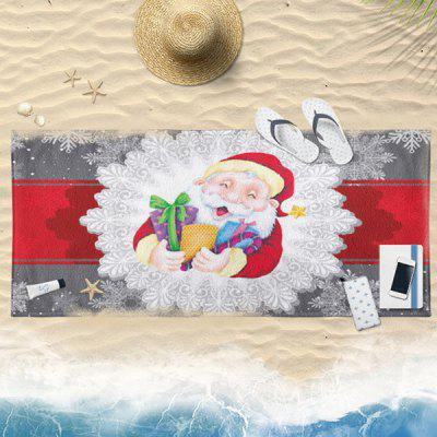 Buy COLORMIX Christmas Water Absorption Santa Claus Bath Towel for $19.36 in GearBest store