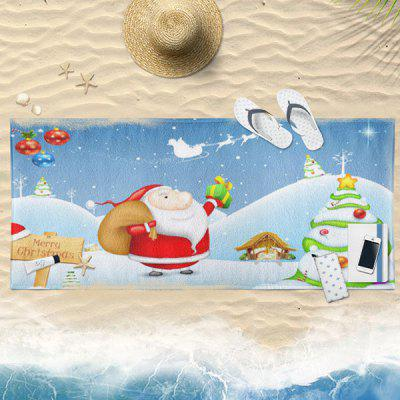 Buy CLOUDY Christmas Snowscape Santa Claus Bath Towel for $19.36 in GearBest store
