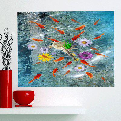 Buy CLOUDY Fishes In Water Patterned Multifunction Removable Wall Art Painting for $11.43 in GearBest store