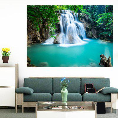 Buy GREEN Mountain Waterfall Patterned Multifunction Removable Wall Art Painting for $11.43 in GearBest store