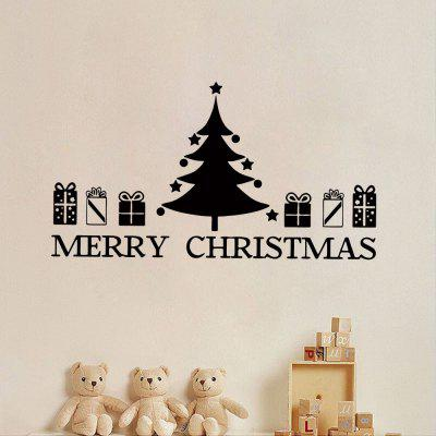 Christmas Tree Gift Pattern Wall Sticker For Living Room